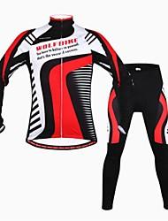 homens biking® oeste inverno fleece térmica de manga longa roupas mountain bike terno bicyle set jersey calças mtb ciclismo
