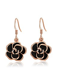 Earring Crystal Flower Drop Earrings Jewelry Birthstones