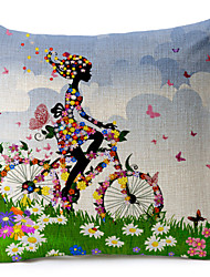 teste padrão colorido borboleta algodão / fronha decorativo linho