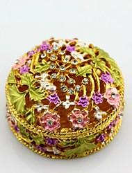 fleur boîte bijou de forme ronde