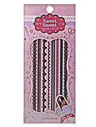 Etude House SWEET SWEET Sweet Nail Sticker (Black See Through)-1 piece