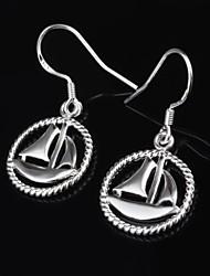 Women's Fashion Personality Hollow Sail Boat  Drop Earring