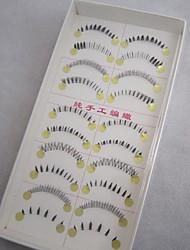 10 Pairs/Box 100% Handmade Fiber with Transparent Plastic Stalk Mixed Styles Lower False Eyelashes
