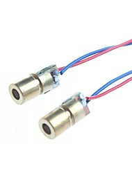 6mm 5V 5mW Laser Dot Diode Module Head WL Red 650nm (2 pcs)