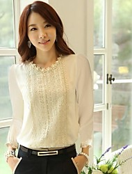 Givenchy&One Women'S Solid Color Beads Chiffon Blouse