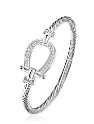 Femme Charmes pour Bracelets Bracelets Rigides Cuivre Plaqué argent Simple Style Goutte Argent Bijoux 1pc