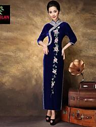 yimilan® la nouvelle lourde broderie perlée qipao robe des femmes