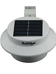 youoklight® 0.3W impermeável 40lm 3-LED de luz branca a energia solar lâmpada quente / muro do jardim - branco