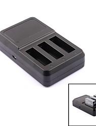 pannovo g-770 Super Mini três slots carregador de bateria para GoPro Hero 4 - preto