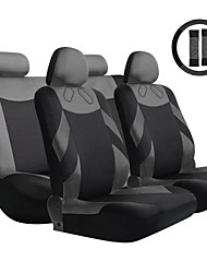 TIROL 13 Pieces Full Seat Cover Set Universal 2 Front Seat & 1 Bench Seat including Wheel Covers Car Accessories