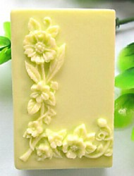 Square Love- L Shaped Flower Fondant Cake Chocolate Silicone Mold Cake Decoration Tools,L6.7cm*W4.9cm*H3.2cm