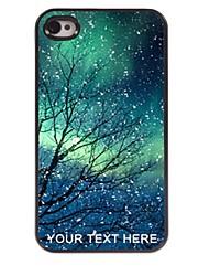 personalizzato phone case - snowflake caso di disegno del metallo per iPhone 4 / 4S
