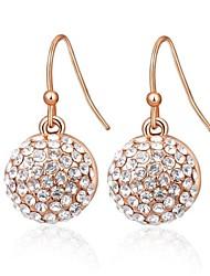 cercle de la mode roxi chute de cristal en alliage de forme champagne zircon boucle d'oreille des femmes (1 paire)
