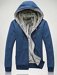 Modeng Men's Newest Korea Style Slim Hoodie Terry Sweater
