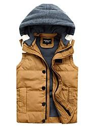 Men Winter Down Vest Fashion Men's Sleeveless Jacket Casual Coat Winter Outdoors