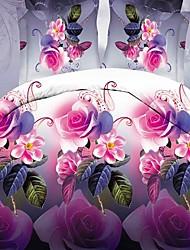 3D(random pattern) Polyester 4 Piece Duvet Cover Sets