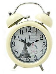 alarme analogique quartz horloge (beige, 1xAA)