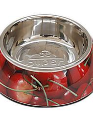bol de nourriture pour motif de cerise pour animaux chiens