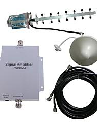 WCDMA 2100MHz mobile amplificateur de signal amplificateur répéteur kit d'antenne 500m²