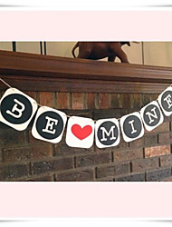 "Handmade Vintage Wedding Banner "" BE MINE"" Party Garlands Decorations"