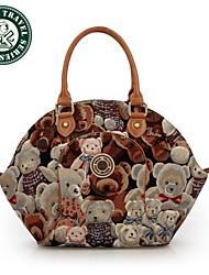 DAKA BEAR® Lady Handbag Shoulder Bag Tote Purse New Fashion PU Leather Women Messenger Hobo