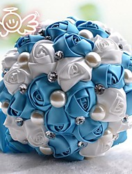 bouquet de rosas romântico com flor de cristal bouquet de noiva de noiva bouquet de noiva de renda (mais cores)