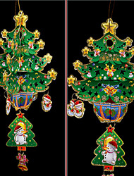 3D Pierced Christmas Decorating Paper Hang 42*23*23cm