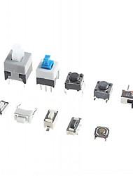 10 tipos de interruptores táctiles empujan botón del interruptor interruptor de tacto smd