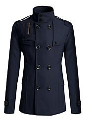 moda casaco de poeira botão dos homens oceano