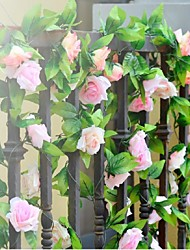 Wedding Décor 2m (6.5ft)Nice Light Pink Rose Vine Decoration