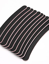 10PCS Black Emery Nail Art Files Nail Buffer Nail Tools Manicure Set UV GEL Nail Shaper