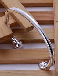 herendubbel kraal openingen verzilverde armband