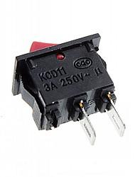 Interruttore rocker 2-pin on / off (3a, ac 250v) - (10pcs)