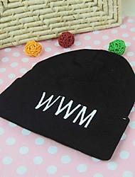 la mode unisexe toutes les lettres de correspondance tricoter chapeau