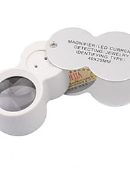 High Magnification Mirror With Light Source Identification of Jewelry Magnifier