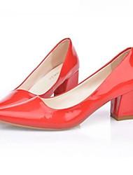 sapatos femininos bombas toe calcanhar robusto apontou sapatos mais cores disponíveis