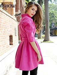 v-cou solide couleur design fashion design mince manches longues occasionnels manteau de cachemire mishow®women