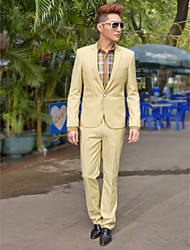 khaki feste slim fit Smoking in Polyester