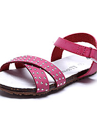 Girls' Shoes Comfort Flat Heel Faux Leather Sandals with Magic Tape Shoes More Colors available