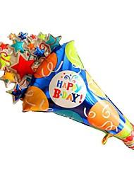 Feliz Aniversário caleidoscópio metálico