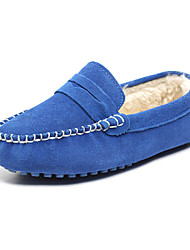 Girls' Shoes Moccasin Comfort Round Toe Flat Heel Leather Loafers Shoes More Colors available