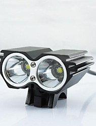Lights Bike Lights / Front Bike Light LED 2500 Lumens Mode Cree XM-L U2 18650 Waterproof / Rechargeable / Impact Resistant