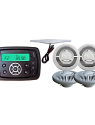 Waterproof Marine Radio Stereo ATV UTV Audio Receiver+ 5.5 Inch White Waterproof Speakers+Radio Antenna