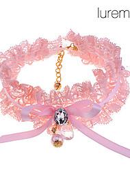 Zircon Lace Pearl Pet Necklace