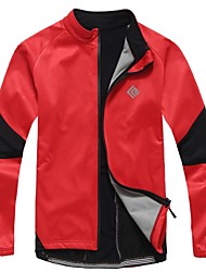 KOSHBIKE Men's Fall and Winter Style Cycling Soft Shell Jacket with Side Fleece