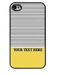 personalizzati cassa del telefono - strisce progettano case in metallo per iPhone 4 / 4S