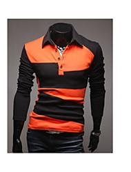 johnny couleur stand de la mode de contraste de collier t-shirts pour hommes