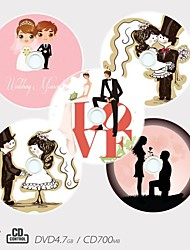 Personalized CD-R/DVD-R Recordable Disc Wedding Pattern Different Designs Magic Gift (Set of 5)