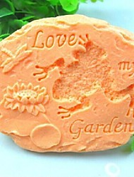 Stone Frog love my Garden Dragonfly Lotus Fondant Cake Chocolate Silicone Mold Cake Decoration Tools,L11.1cm*W9.2cm*H4cm