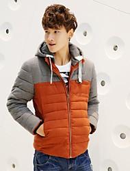 shengweiao nouveau coton mince doudoune veste de manteau d'hiver mens hommes coréen coton court métrosexuel capuche